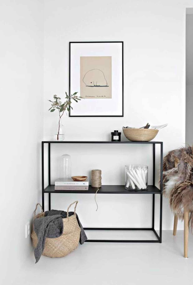 minimalist Minimalist Interior Designs with Striking Console Tables 0f5bc2d9e2eaf7f01b774829bb20ea22