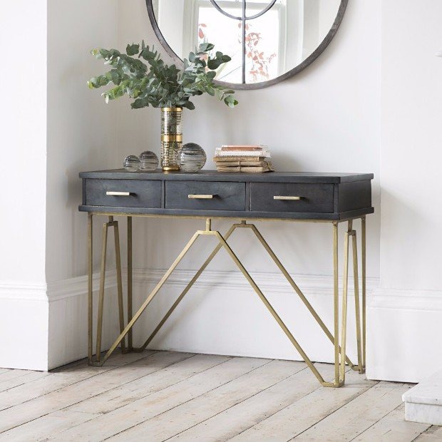 console table 15 Daring Console Tables with Storage 4129d0d428c0972e9446c23096798924
