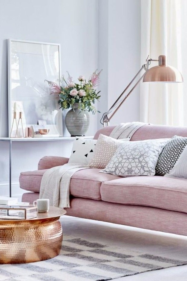 millennial pink Dreamy Interiors with Millennial Pink 80ceb43a897023504e7023b5f04ff26e