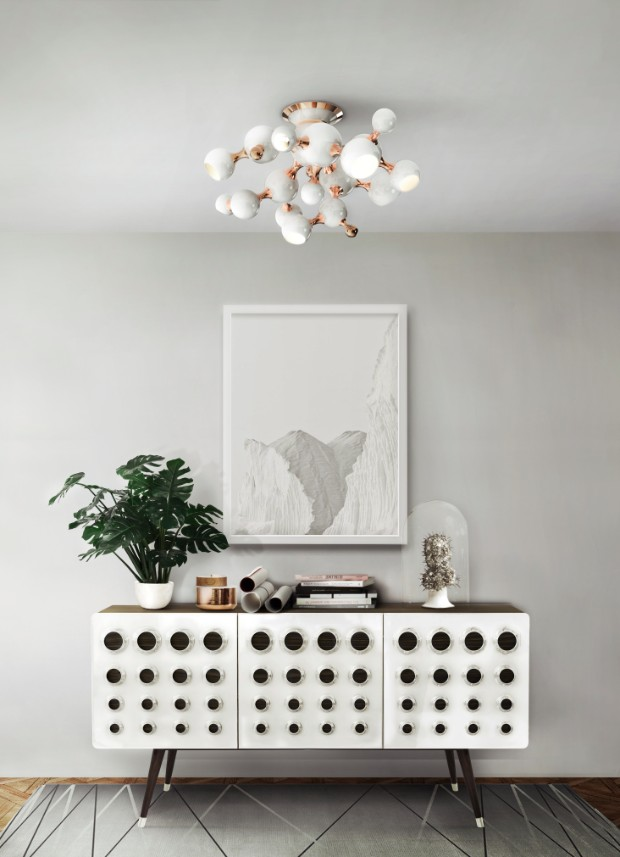 console table Lighting Ideas to Match your Console Table delightfull atomic sputnik modern living room multi light sphere chandelier 02