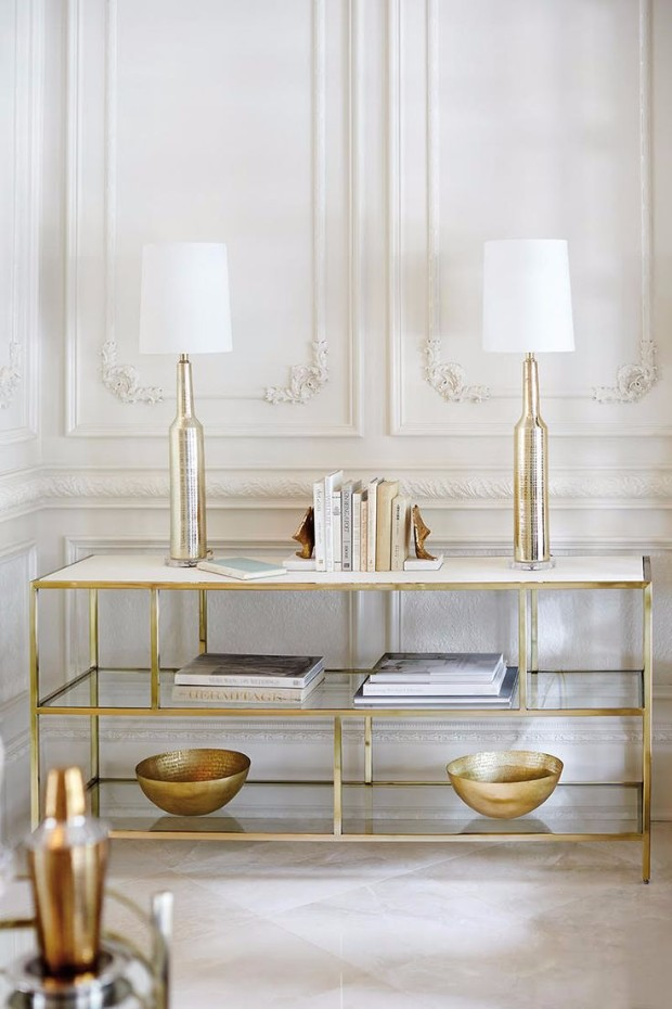 golden console Dazzling Golden Console Tables f531f09ff32b3acd8d02272269e9ee24