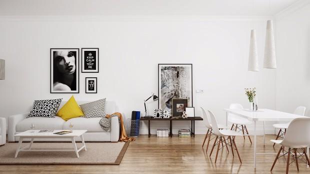 scandinavian modern style Trends 2017: Scandinavian Modern Style 05 white eames chairs