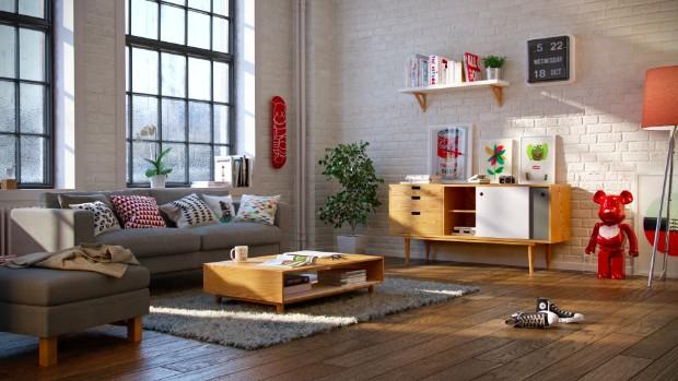 scandinavian modern style Trends 2017: Scandinavian Modern Style Apartment01