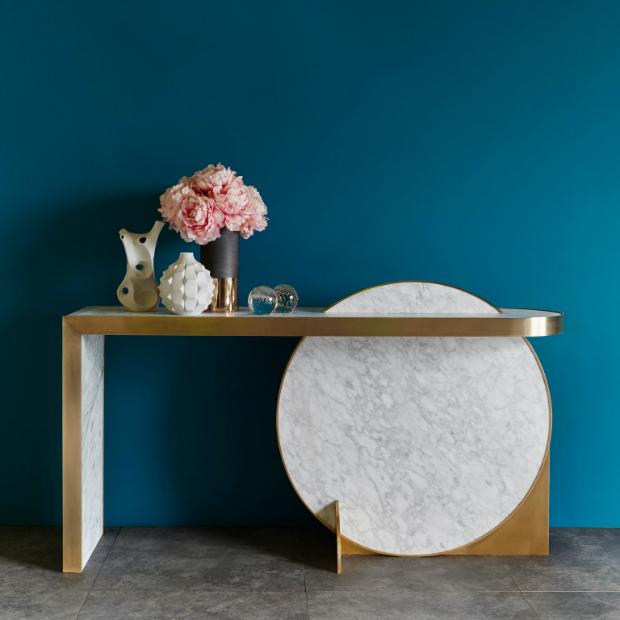 interior inspiration 12 Interior Inspiration Ideas with Marble Console Tables lara bohinc x lapicida console