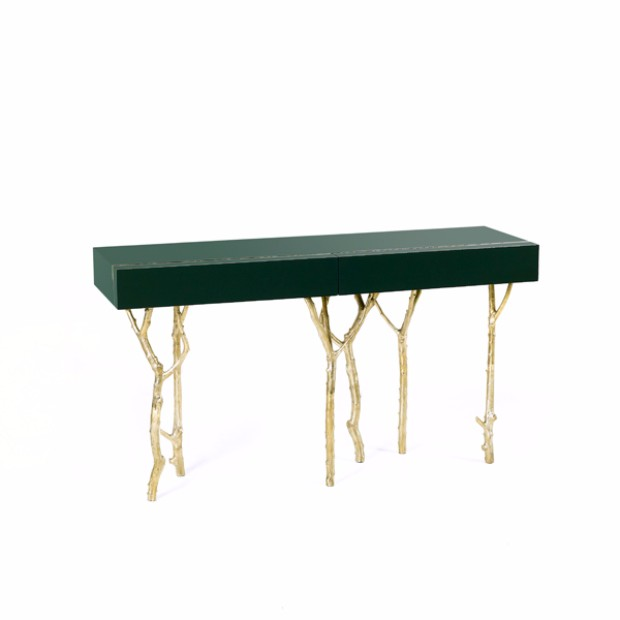 interior design styles Interior Design Styles with Gloss Finish Console Table 120417 GJ FIG TREE CONSOLE 002