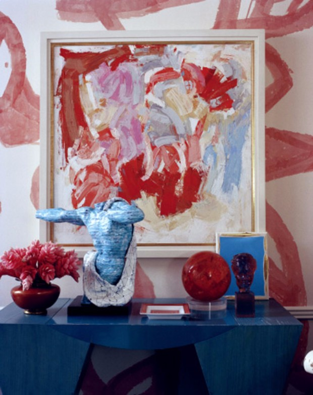 4th july 4th July Décor: Blue & Red Console Tables 4th July De  cor Blue Red Console Tables 10