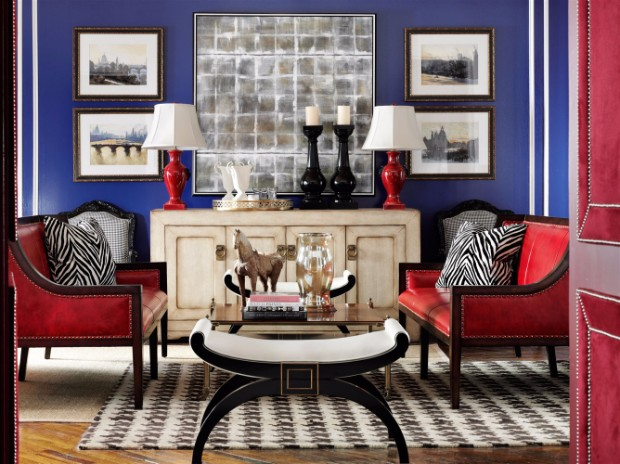 4th july 4th July Décor: Blue & Red Console Tables 4th July De  cor Blue Red Console Tables 6