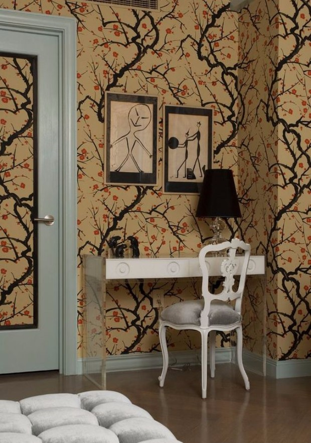 wallpapers 15 Inspiring Rooms with Wallpapers Inspiring Rooms with  Wallpapers 16