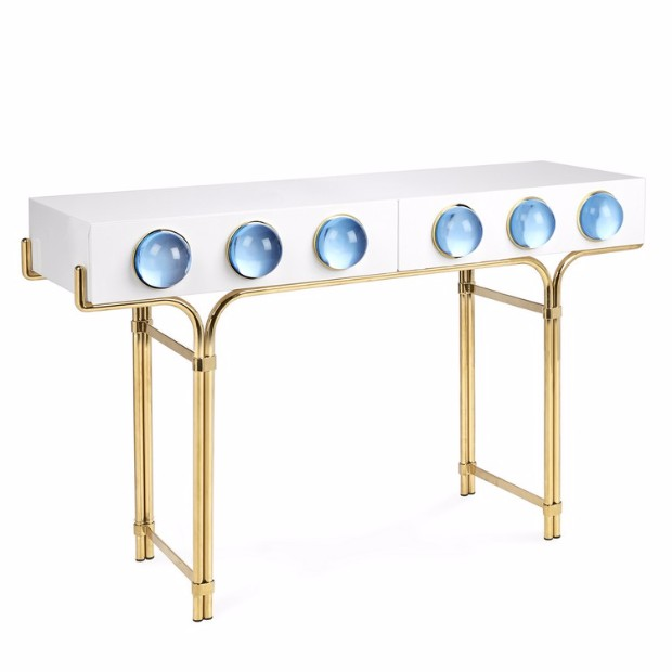interior design styles Interior Design Styles with Gloss Finish Console Table adlerglobo console 1