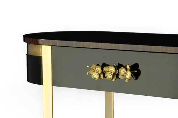 interior design styles Interior Design Styles with Gloss Finish Console Table orchidea console 2
