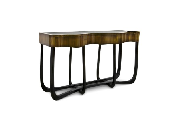 modern consoles Boca do Lobo Modern Consoles from Coolors Collection sinuous patina console boca do lobo 02