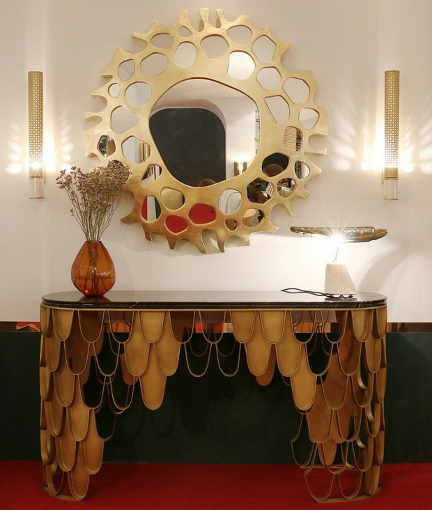 console table designs Perfect match: mirrors and console table designs 15 Perfect match mirrors and console table designs louis XVI and monochrome