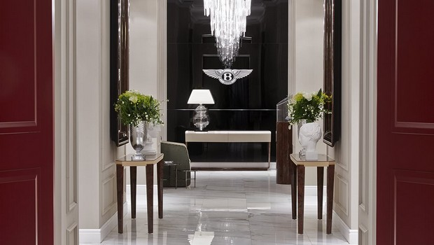 ICFF icff The Finest Luxury Brands at ICFF Miami 2 BE Saxon console Bentley furniture 2