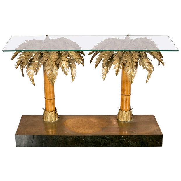 modern console tables modern console tables Tree-Inspired Modern Console Tables 5 Palm Tree console table 1st dibs