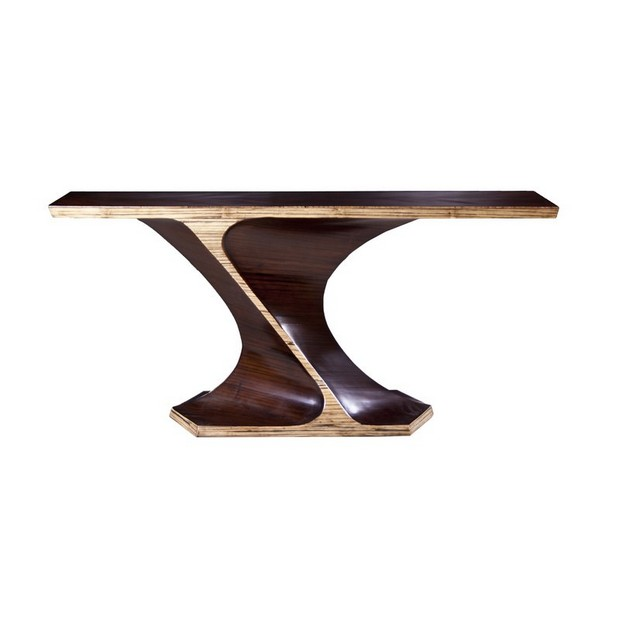 ICFF icff The Finest Luxury Brands at ICFF Miami 6 Perigold BambooTwistConsoleTable Phillips Collection 1