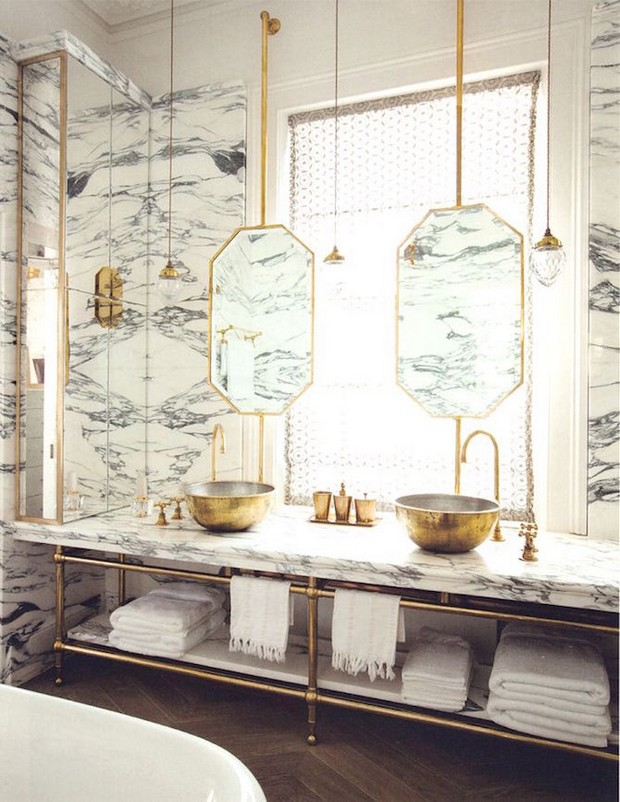 master bathroom Modern Console Tables for a Luxury Master Bathroom 7 design elements luxury bathrooms should have 4