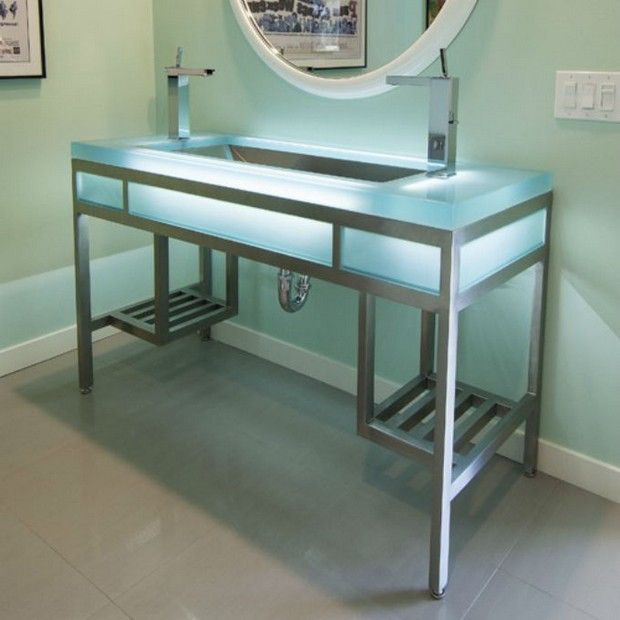 master bathroom Modern Console Tables for a Luxury Master Bathroom EBB