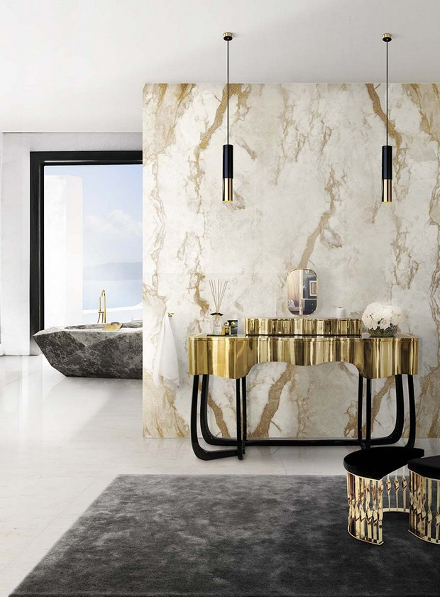 master bathroom Modern Console Tables for a Luxury Master Bathroom bathroom maison valentina 11