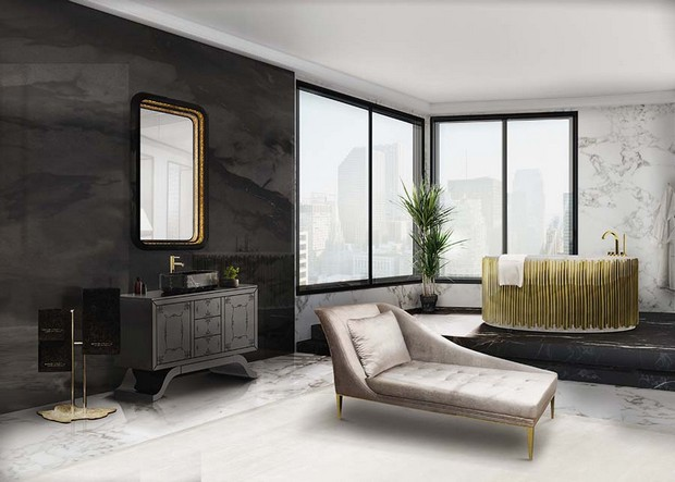 master bathroom Modern Console Tables for a Luxury Master Bathroom bathroom maison valentina 12 1