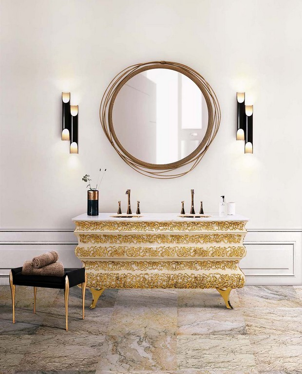 master bathroom Modern Console Tables for a Luxury Master Bathroom bathroom maison valentina 14 1
