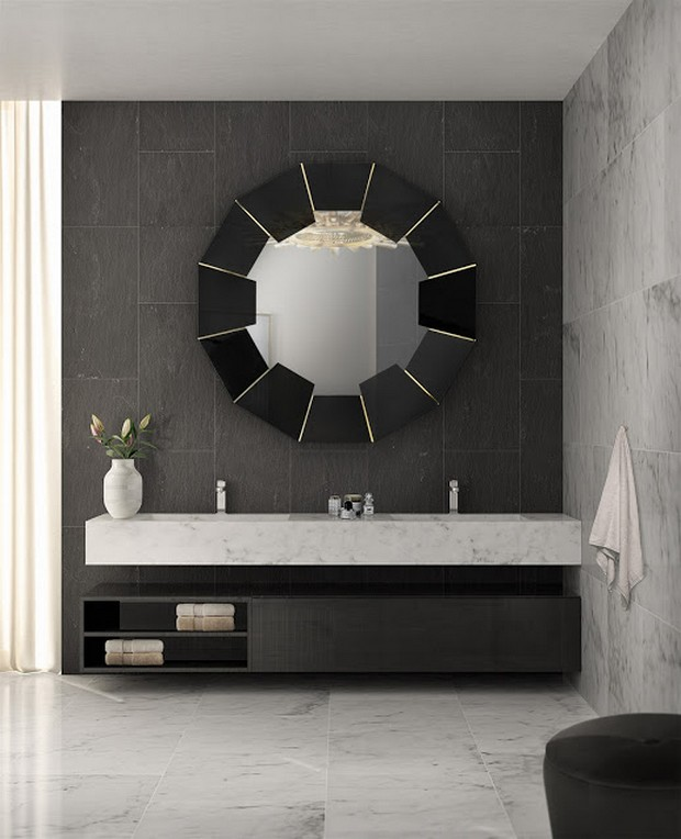 master bathroom master bathroom Modern Console Tables for a Luxury Master Bathroom darian black mirror cover 01