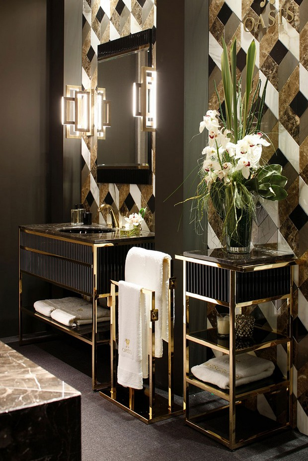 master bathroom Modern Console Tables for a Luxury Master Bathroom f588aee01bacf20cfcc50fdedd26b08e