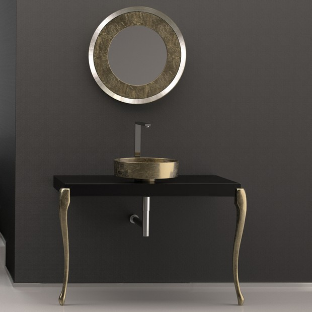 master bathroom Modern Console Tables for a Luxury Master Bathroom luxury bathroom console silver leaf 3