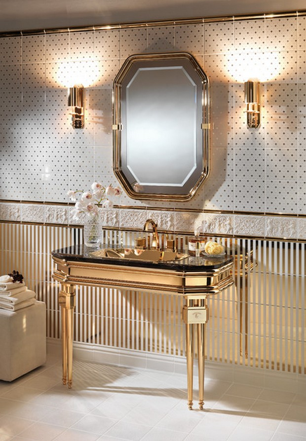 Modern console tables for a luxury master bathroom Luxury bathroom vanity design