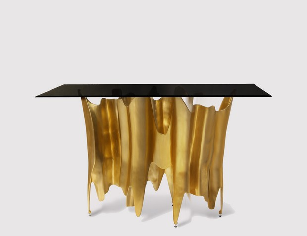 golden console tables golden console tables 15 Jaw-Droping Golden Console Tables 01 Obssedia console koket