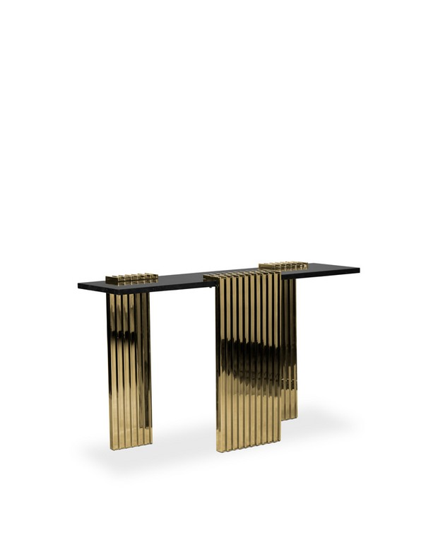 golden console tables golden console tables 15 Jaw-Droping Golden Console Tables 01 vertigo console luxxu