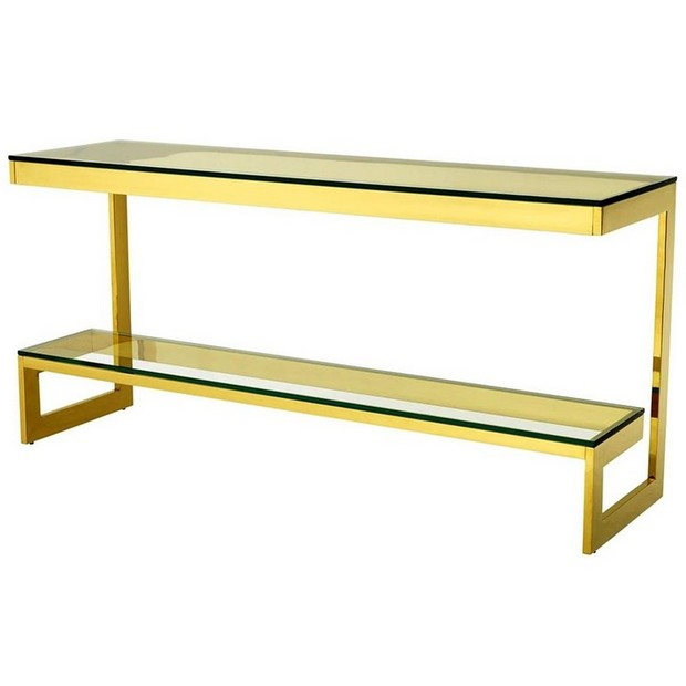golden console tables 15 Jaw-Droping Golden Console Tables 4 jaw droping Golden Console Tables double top console