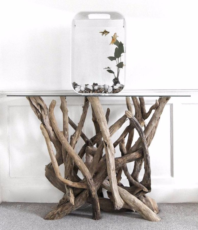 console tables 10 Inspiring Artistic Console Tables Ideas Driftwood Console Table