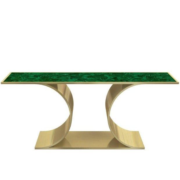 brass finish Editor's Pick: Brass Finish Console Tables Editor   s Pick Brass Finish Console Tables8