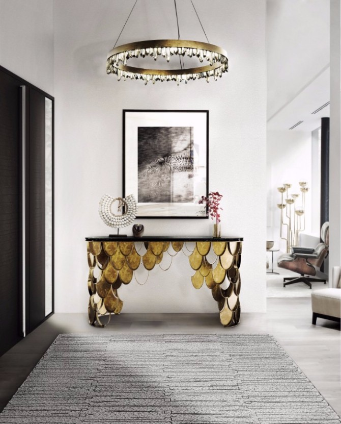 Top 10 Interior Inspiration Ideas with Marble Console Tables marble console table Top 10 Interior Inspiration Ideas with Marble Console Tables Koi Console Table Marble Brabbu