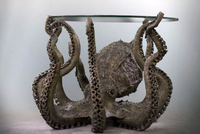 console tables 10 Inspiring Artistic Console Tables Ideas Metal octopus console