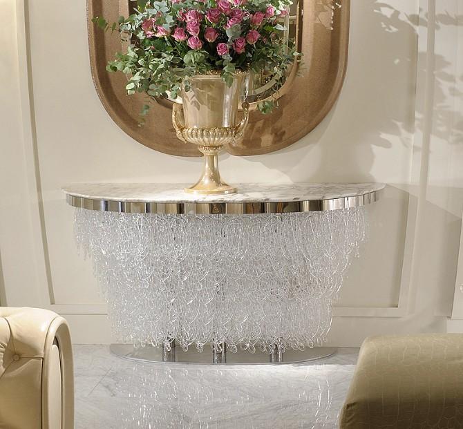 llorente Taylor Llorente Elegant Console Tables Murano glass console marble top