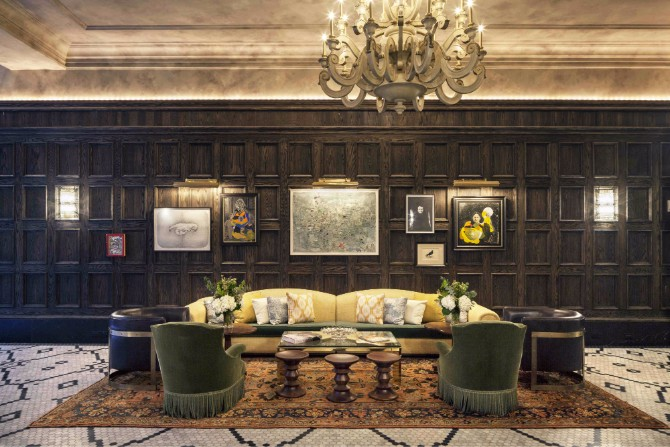 hotel lobby design Editor's Choice: Hottest Hotel Lobby Design 2017 New York Hotel Design by Gerner Kronick and Valcarcel Architects