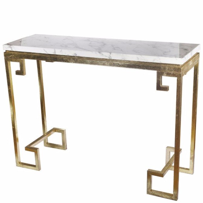marble console table Top 10 Interior Inspiration Ideas with Marble Console Tables Phoenecian Nights Marble Console Table