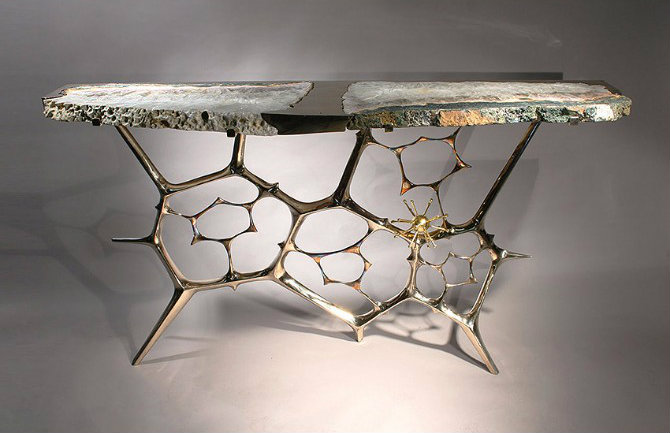 console tables 10 Inspiring Artistic Console Tables Ideas Sculptural console 1