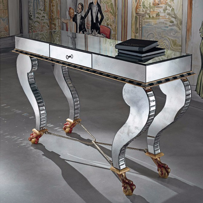 Taylor Llorente Elegant Console Tables llorente Taylor Llorente Elegant Console Tables Venetian Mirror glass