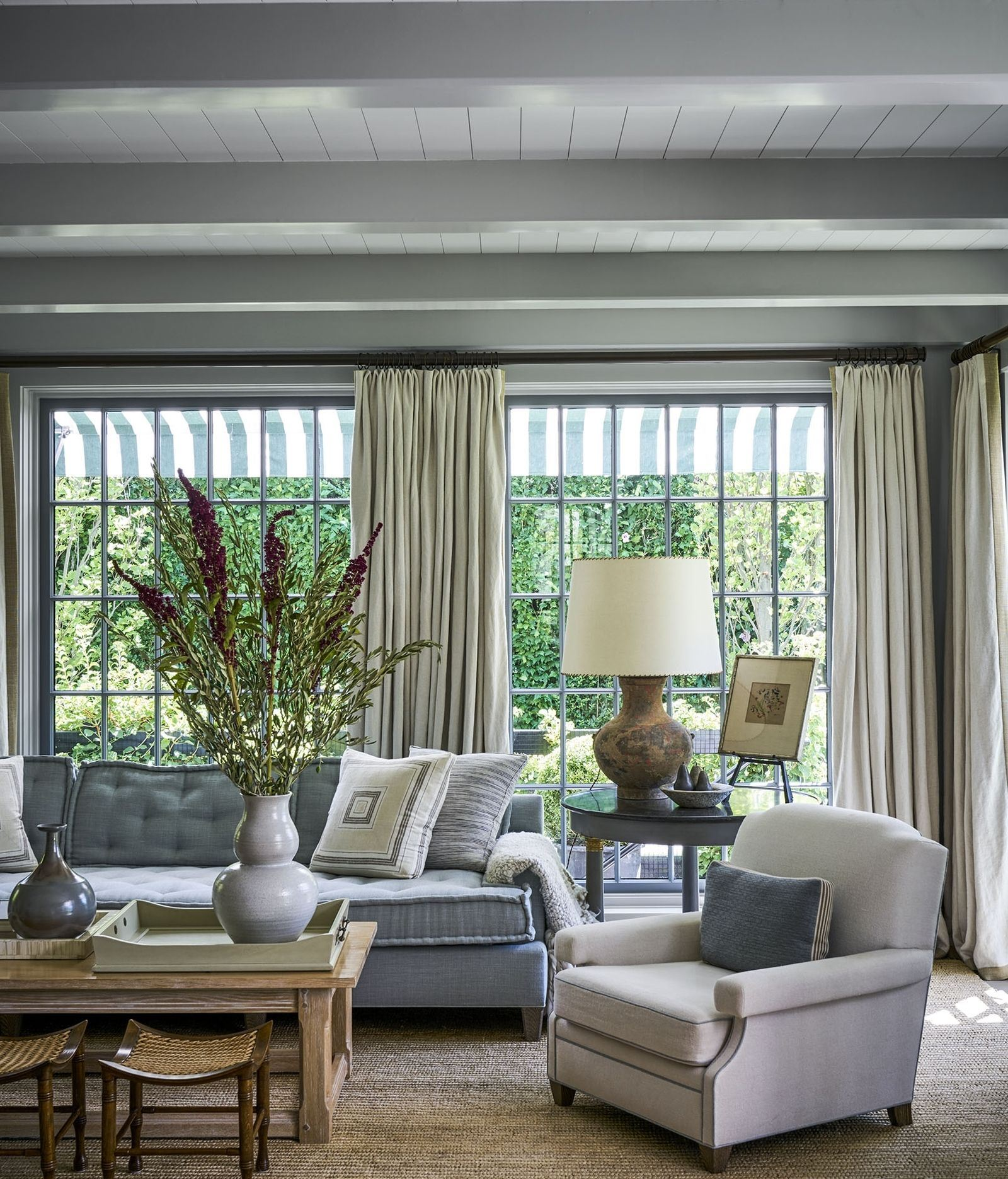 design ideas Design Ideas from this Trendy Duo! matching curtains and furniture 1