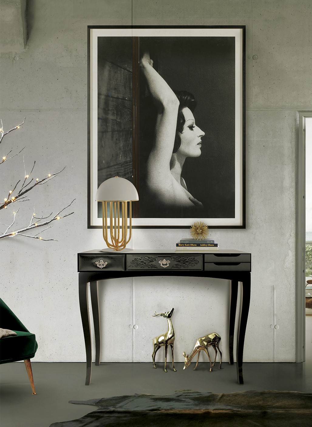 black console table Most Beautiful Black Console Tables You Can Find 1 Most Beautiful Black Console Tables You Can Find