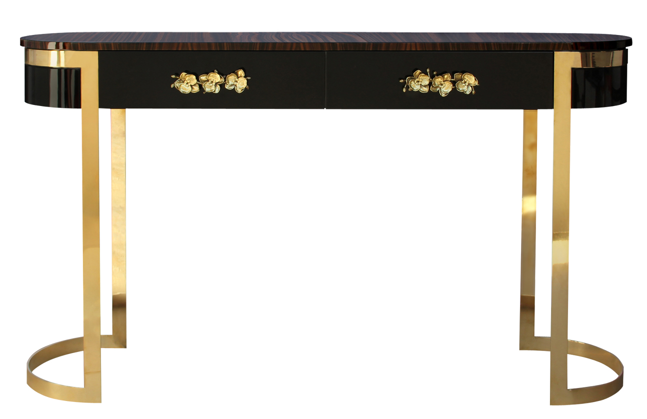console tables console tables Breathtaking Console Tables With Gold Brass Finish 5 Breathtaking Console Tables With Gold Brass Finish