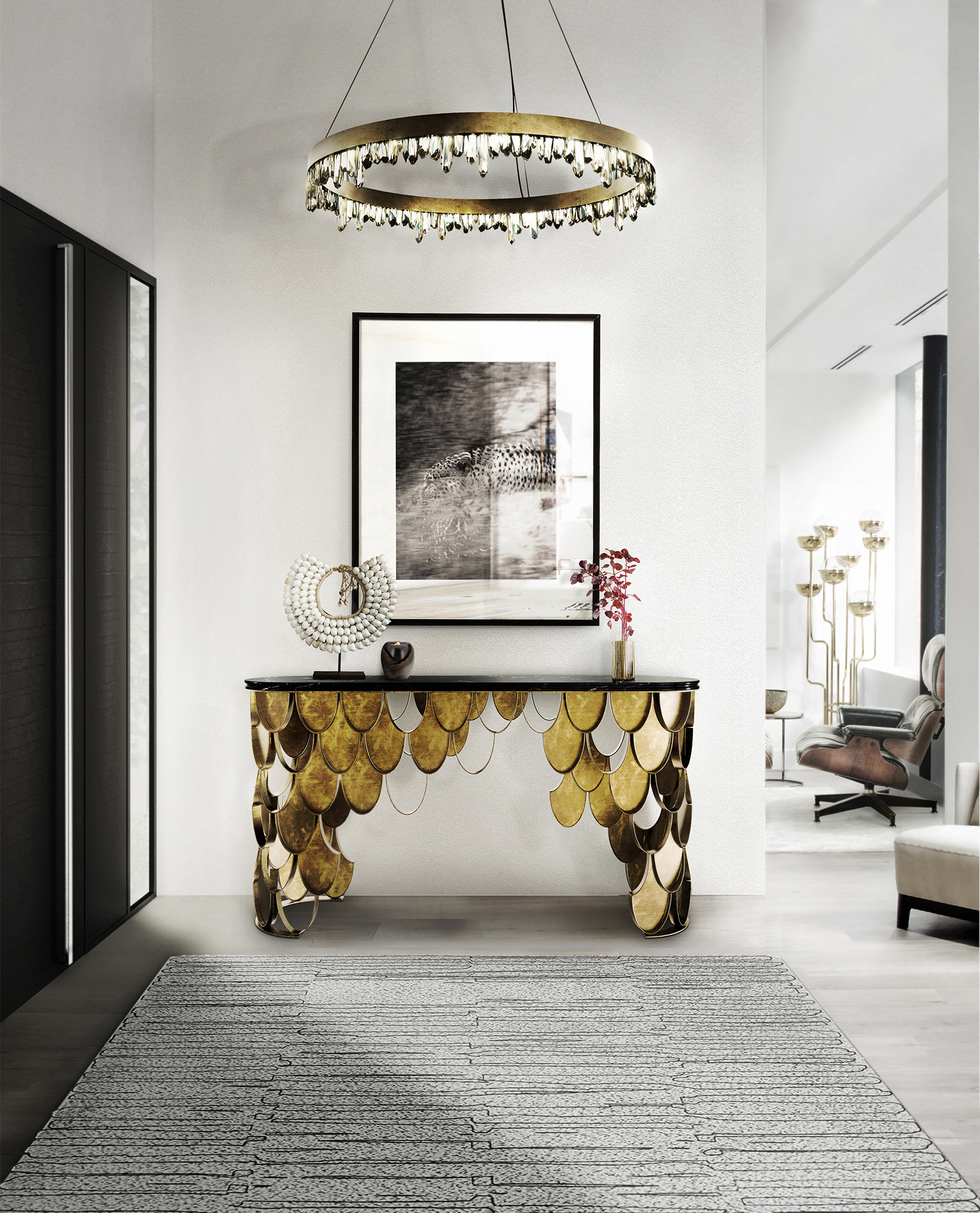 marble console table 10 Unparalleled Marble Console Tables 6 10 Unparalleled Marble Console Tables