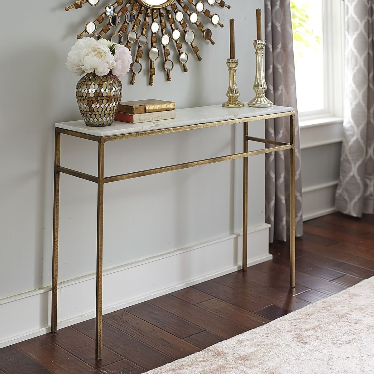 console tables Breathtaking Console Tables With Gold Brass Finish 6 Breathtaking Console Tables With Gold Brass Finish