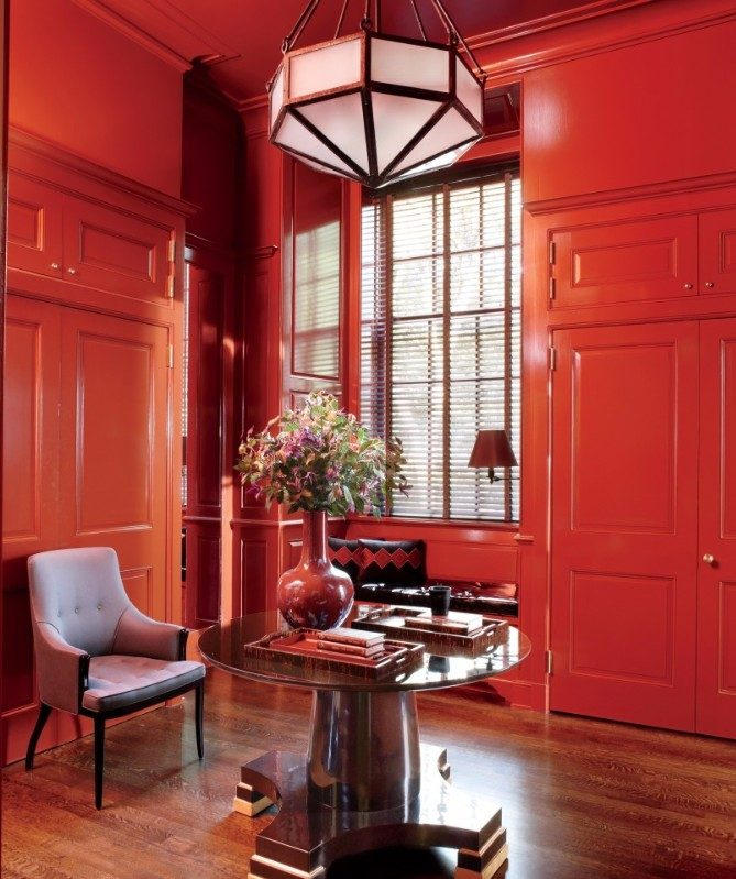 deep red Consoles for Deep Red Accents Interiors Consoles for Deep Red Accents Interiors8 e1510913223368