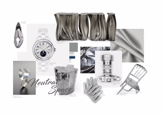 gray room The Best Consoles for a Gray Room SIZED moodboard Neutral 1