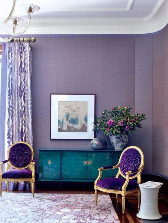 purple rooms 10 Vibrant Purple Rooms with Console Tables Vibrant Purple Rooms with Console Tables1