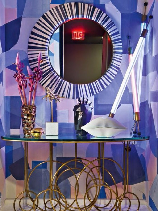 purple rooms 10 Vibrant Purple Rooms with Console Tables Vibrant Purple Rooms with Console Tables10