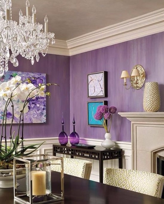 purple rooms 10 Vibrant Purple Rooms with Console Tables Vibrant Purple Rooms with Console Tables2